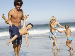 familia se divertindo