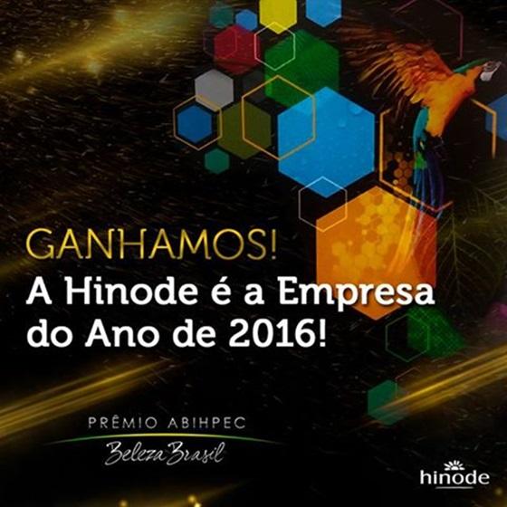 hinode é a empresa do ano de 2016 oficial 2